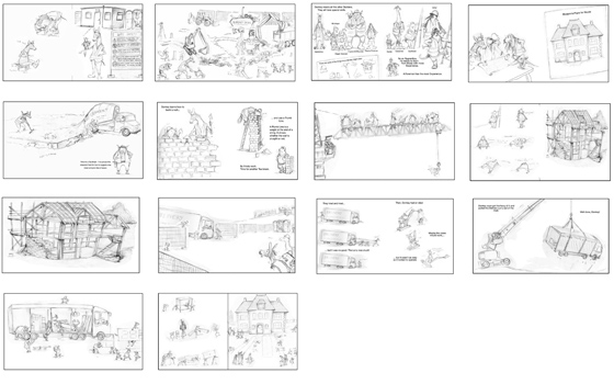 Thumbnails from 'A Day with the Animal Builders' by Sharon Rentta