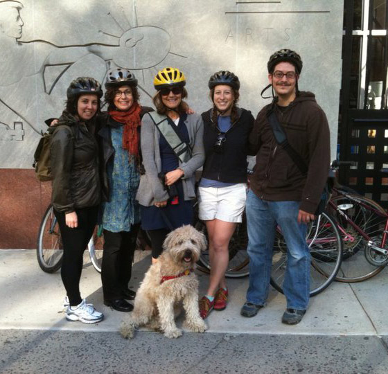 From the left: Rachael Cole, Anne Schwartz, Lee Wade, Emily Seife and Jason Gots