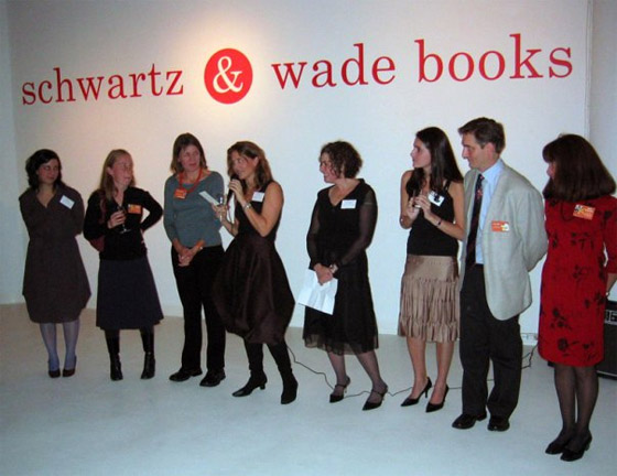 The launch party for Schwartz & Wade Books.