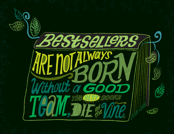 Hand lettering by Jill Howarth, represented by Good Illustration